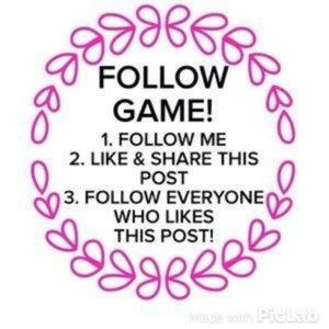 FOLLOW GAME SHARE Game FOLLOW FOR FLOW